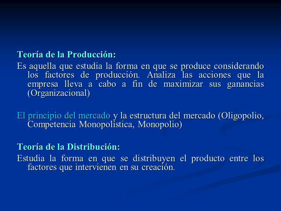 Teoría de la Producción: