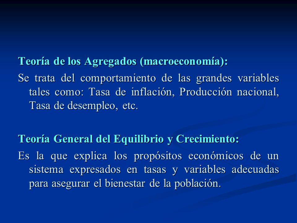 Teoría de los Agregados (macroeconomía):