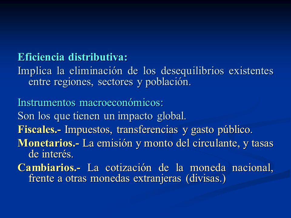 Eficiencia distributiva: