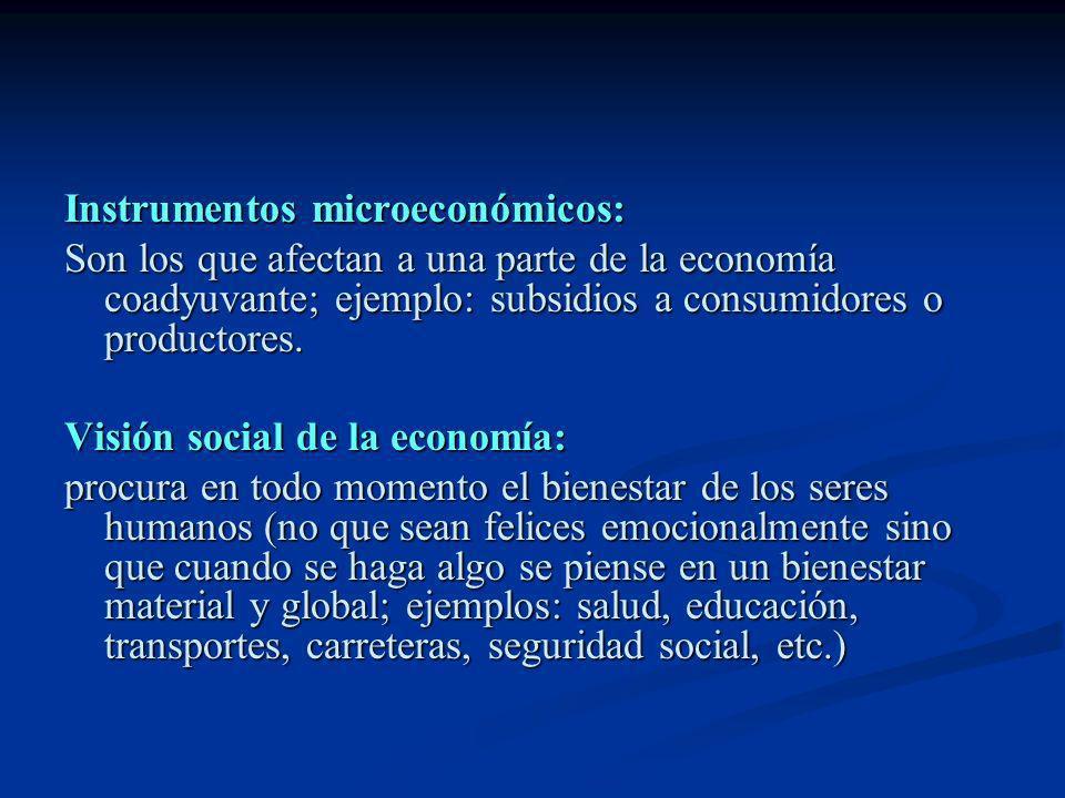Instrumentos microeconómicos: