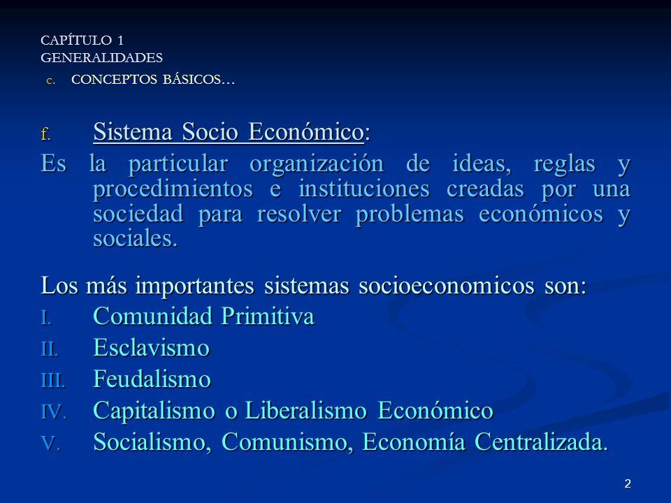 Sistema Socio Económico: