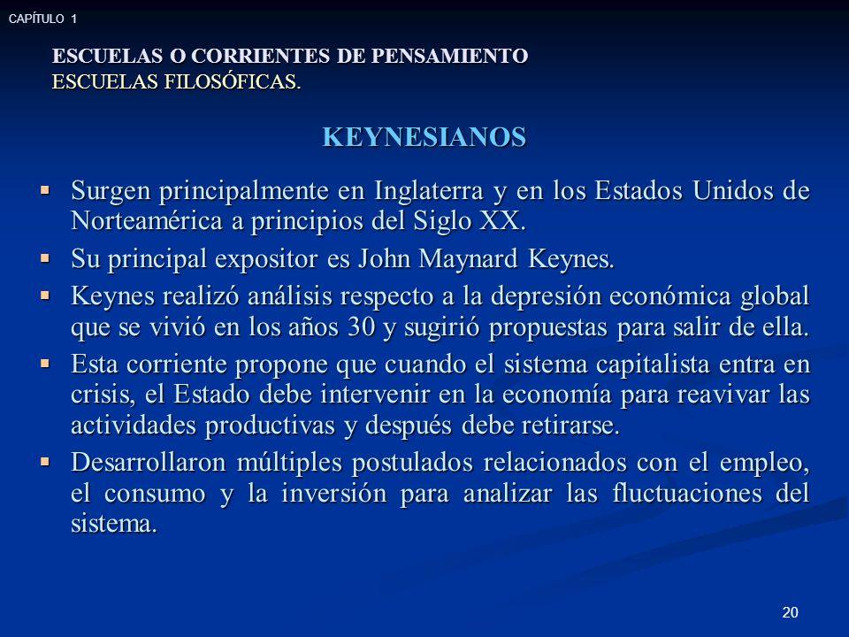 Su principal expositor es John Maynard Keynes.