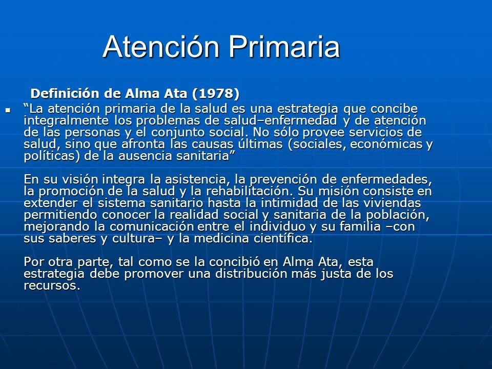Atención Primaria Definición de Alma Ata (1978)