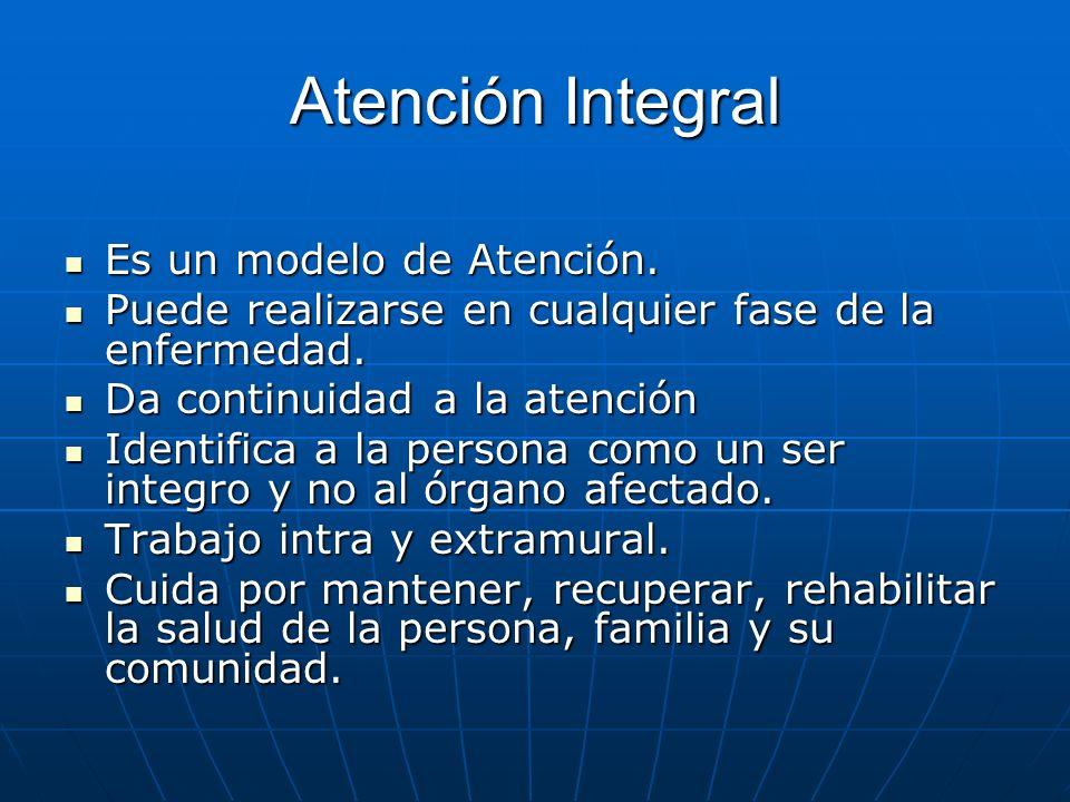 Atención Integral Es un modelo de Atención.