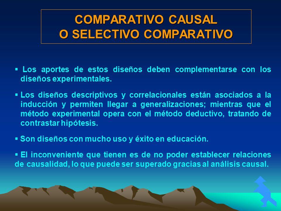COMPARATIVO CAUSAL O SELECTIVO COMPARATIVO