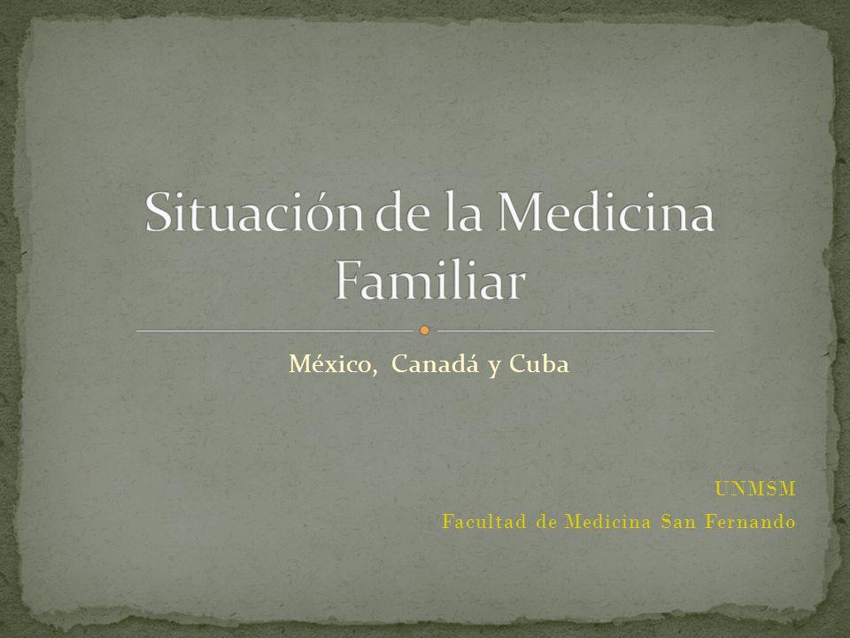 Situación de la Medicina Familiar