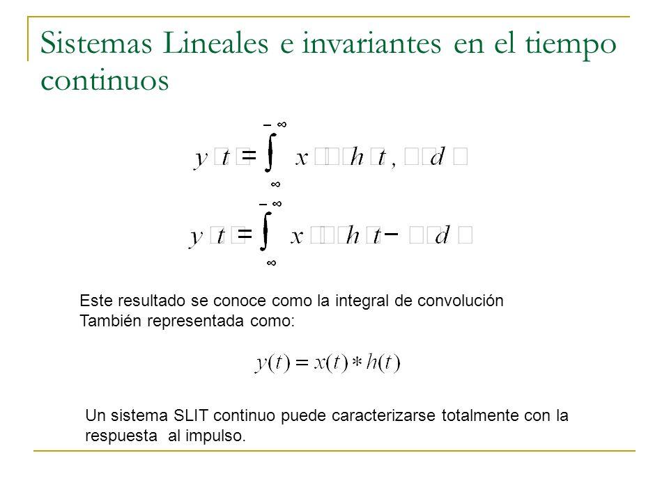 Sistemas Lineales e invariantes en el tiempo continuos