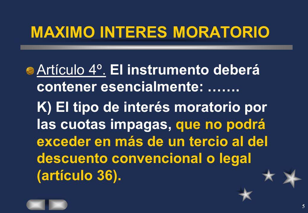 MAXIMO INTERES MORATORIO
