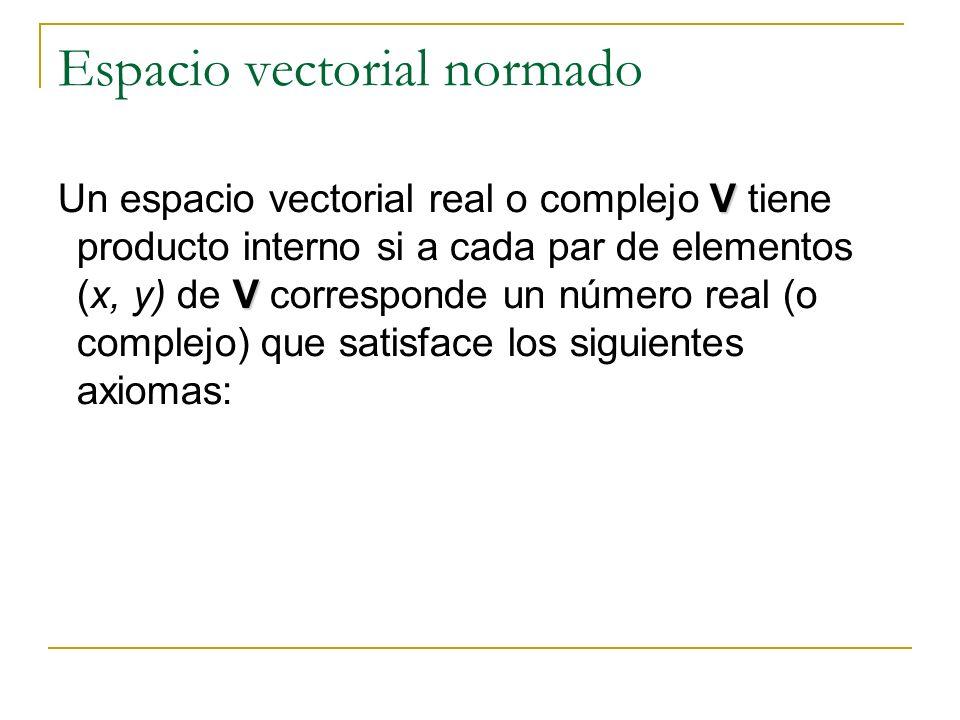 Espacio vectorial normado