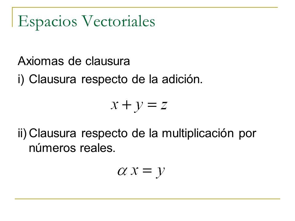 Espacios Vectoriales Axiomas de clausura