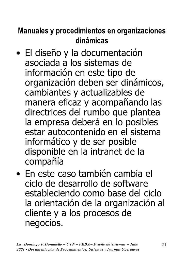Manuales y procedimientos en organizaciones dinámicas