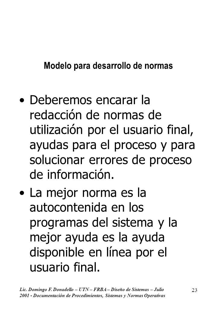 Modelo para desarrollo de normas