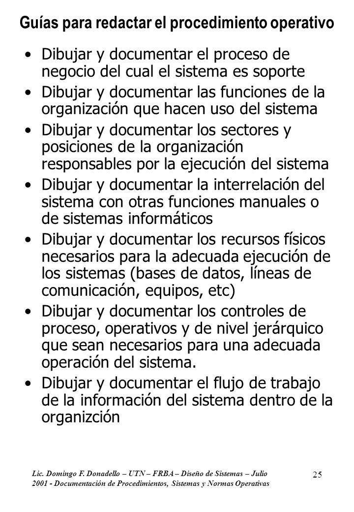 Guías para redactar el procedimiento operativo