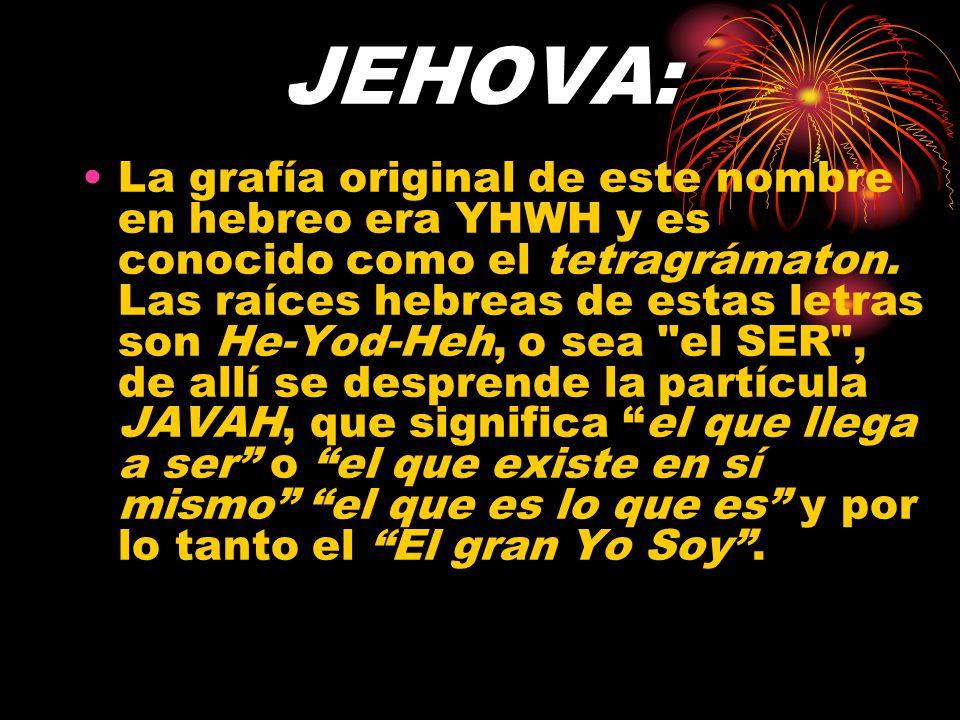 JEHOVA: