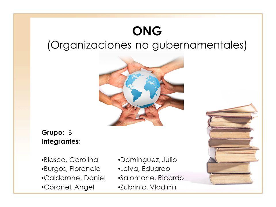 ONG (Organizaciones no gubernamentales)