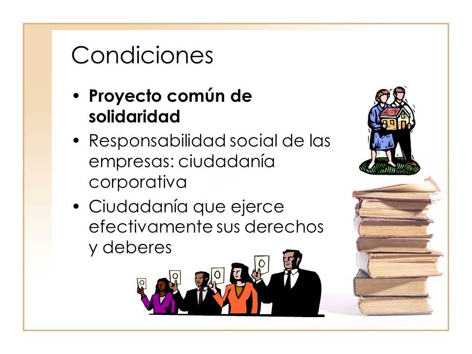Condiciones Proyecto común de solidaridad
