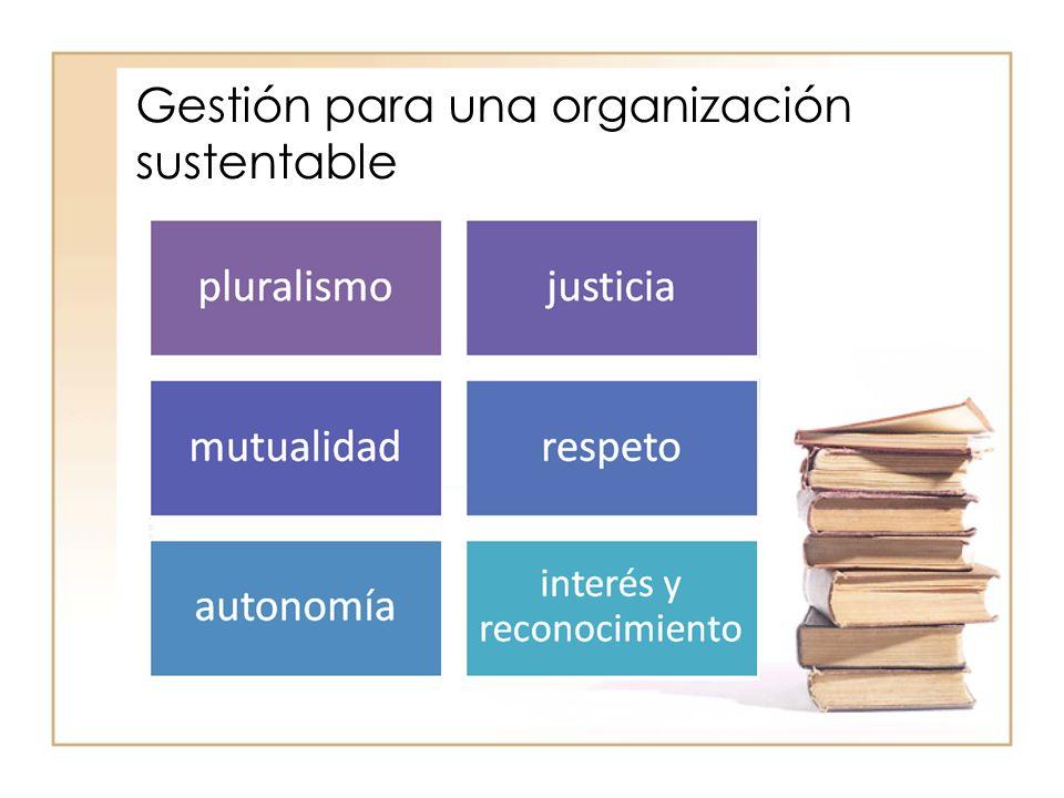 Gestión para una organización sustentable