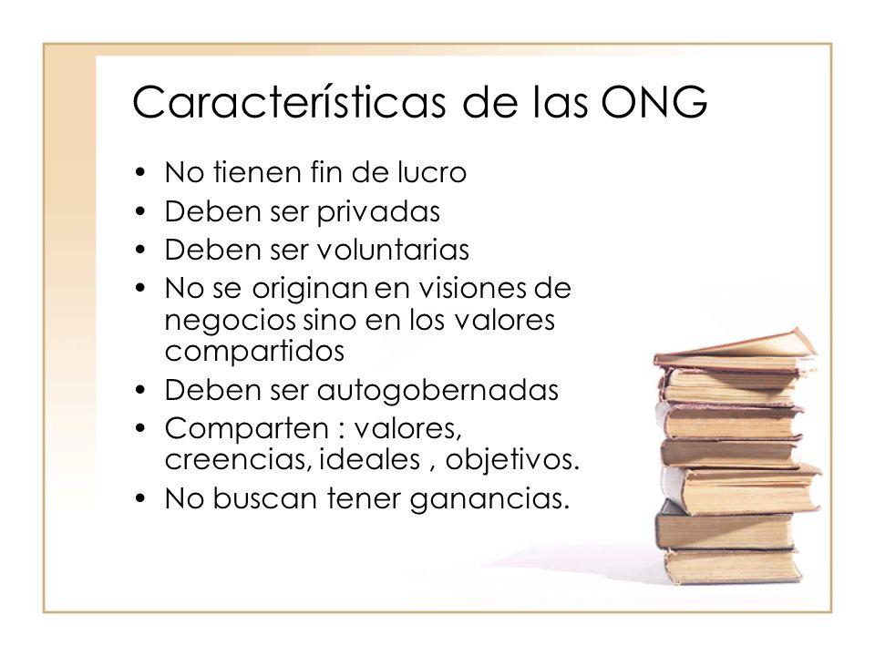 Características de las ONG