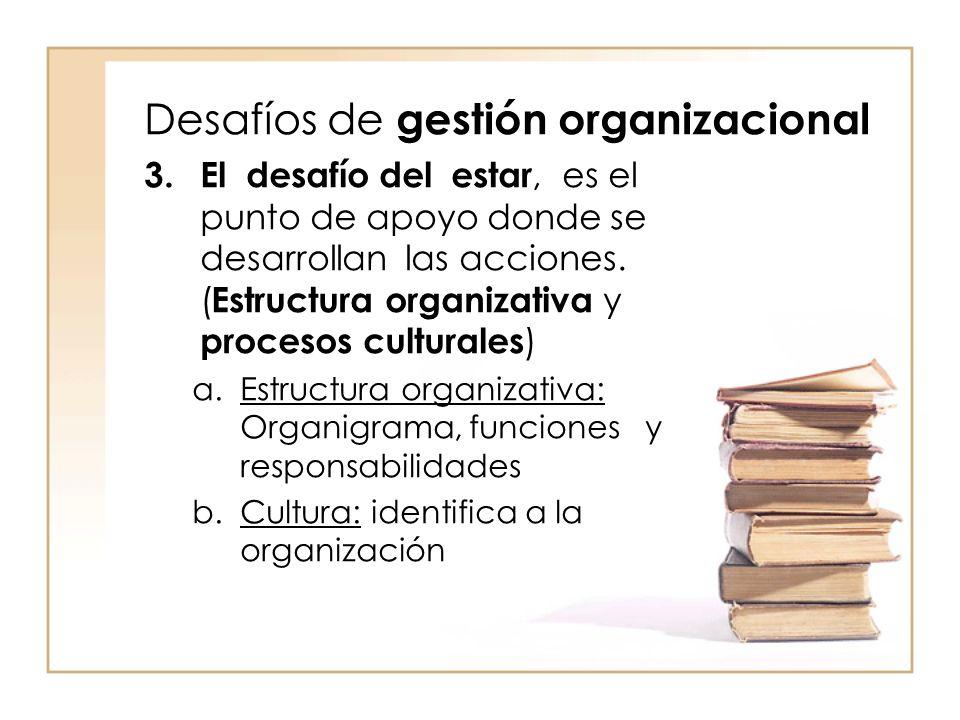 Desafíos de gestión organizacional