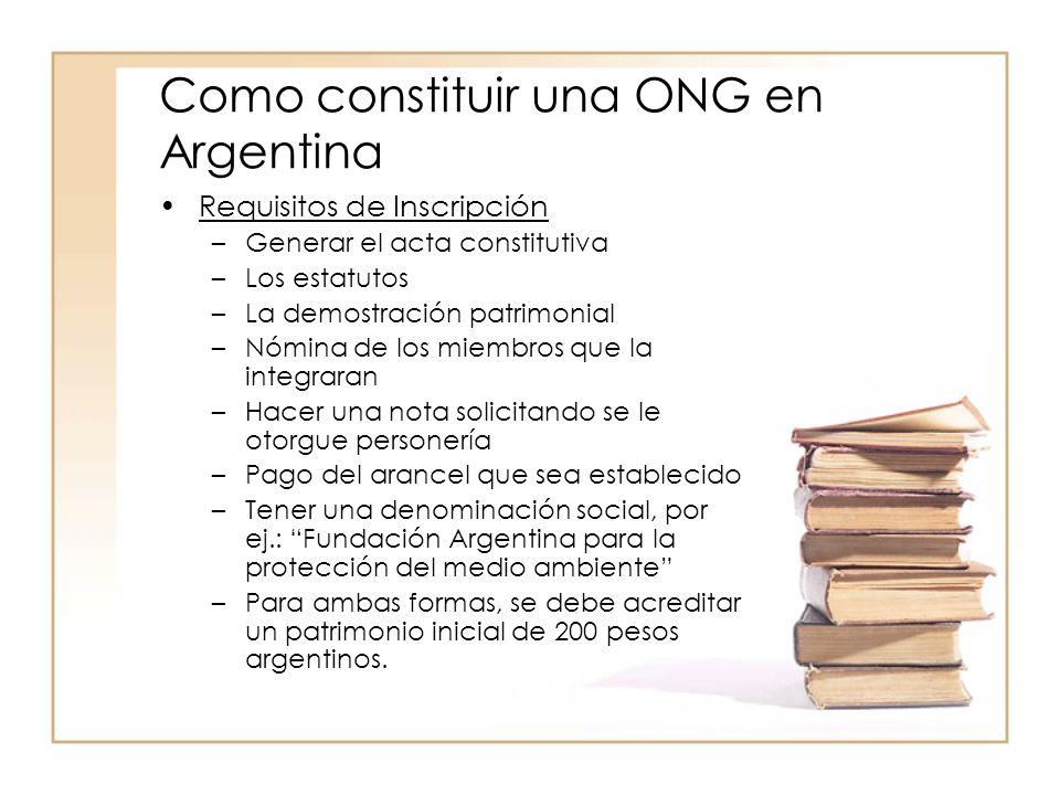 Como constituir una ONG en Argentina