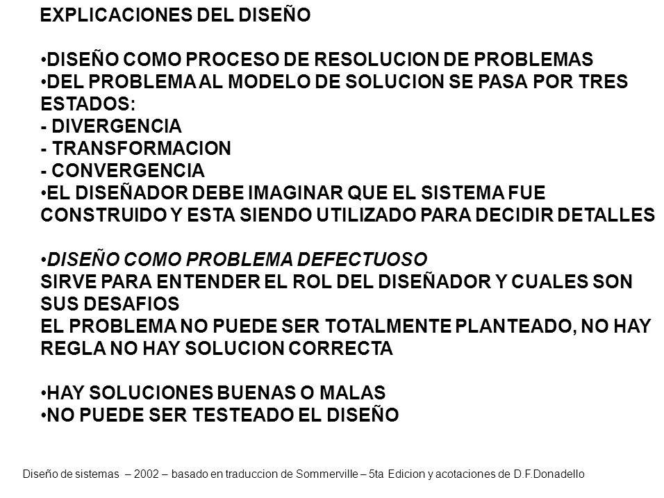 DISEÑO COMO PROCESO DE RESOLUCION DE PROBLEMAS