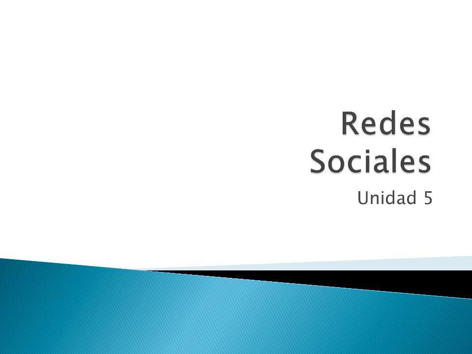 Redes Sociales Unidad 5