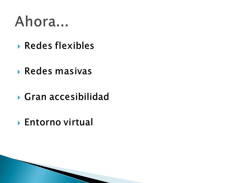 Ahora... Redes flexibles Redes masivas Gran accesibilidad