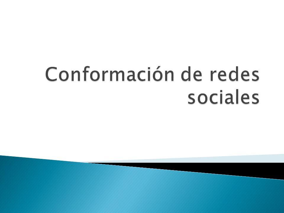 Conformación de redes sociales