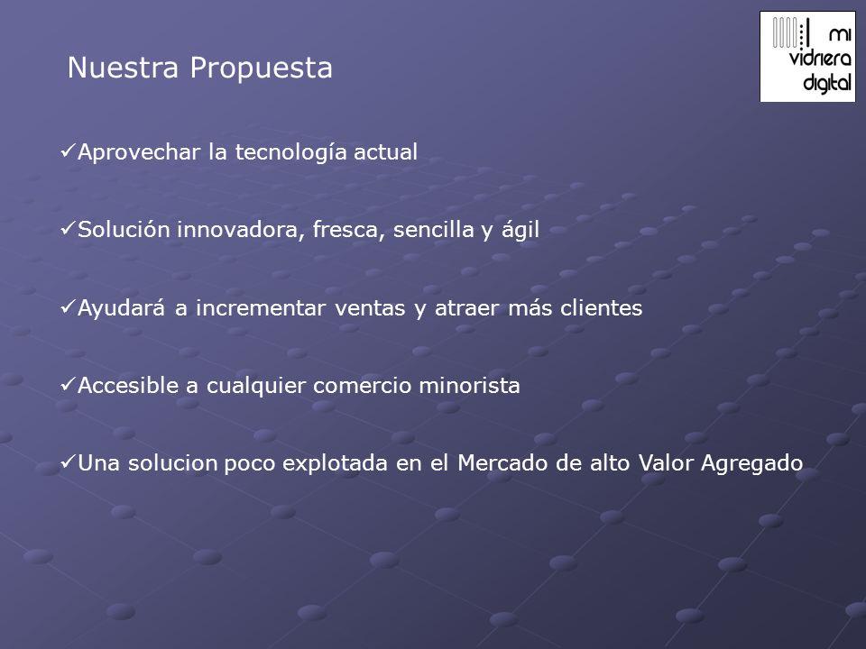 Nuestra Propuesta Aprovechar la tecnología actual