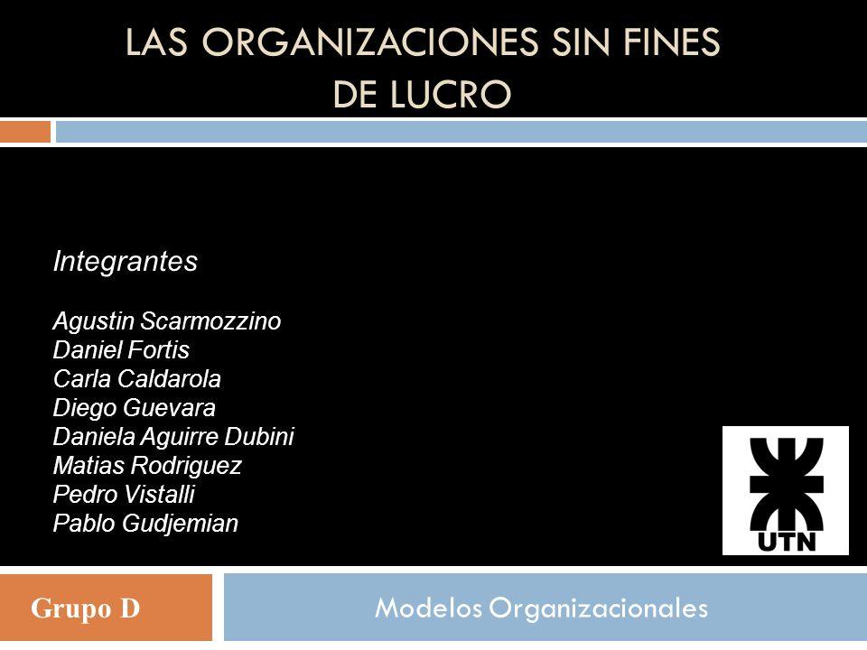 Las organizaciones sin fines de lucro