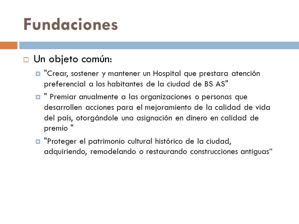 Fundaciones Un objeto común: