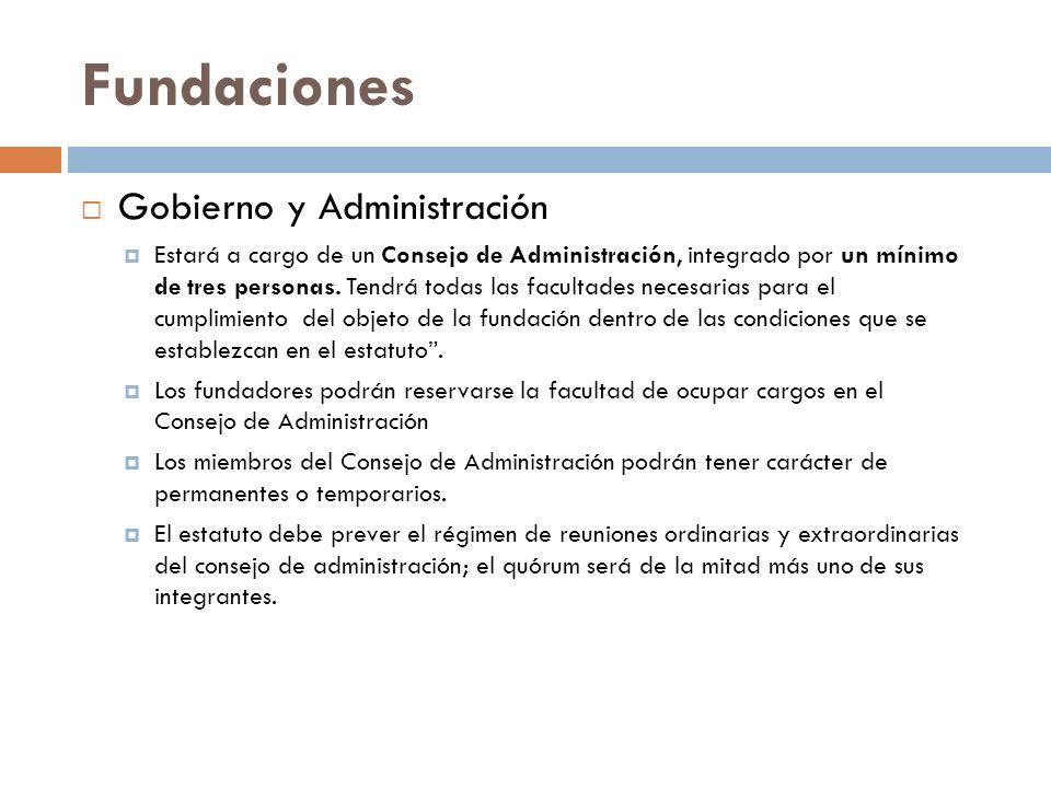 Fundaciones Gobierno y Administración