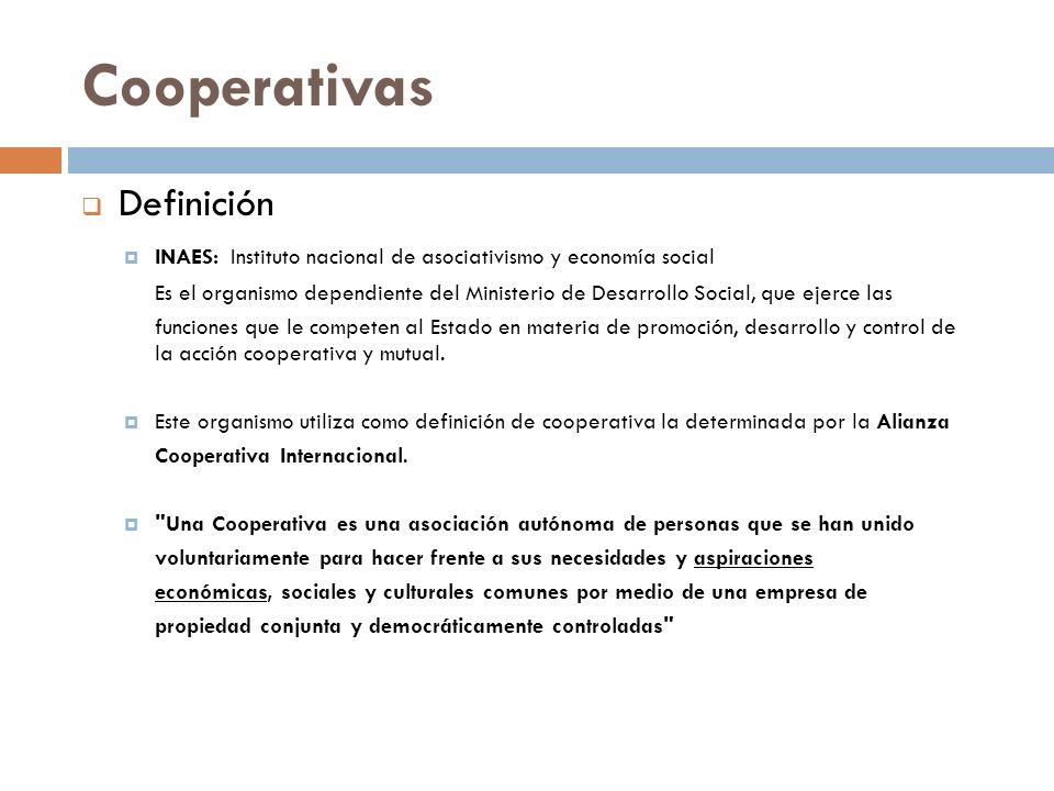 Cooperativas Definición
