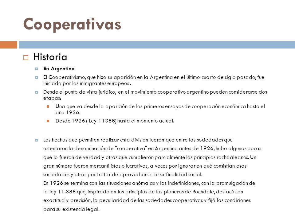 Cooperativas Historia En Argentina
