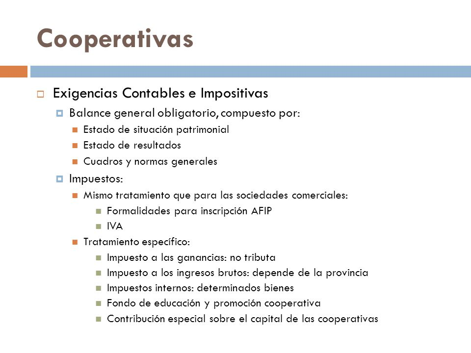 Cooperativas Exigencias Contables e Impositivas