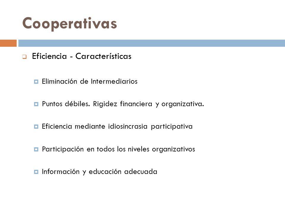 Cooperativas Eficiencia - Características