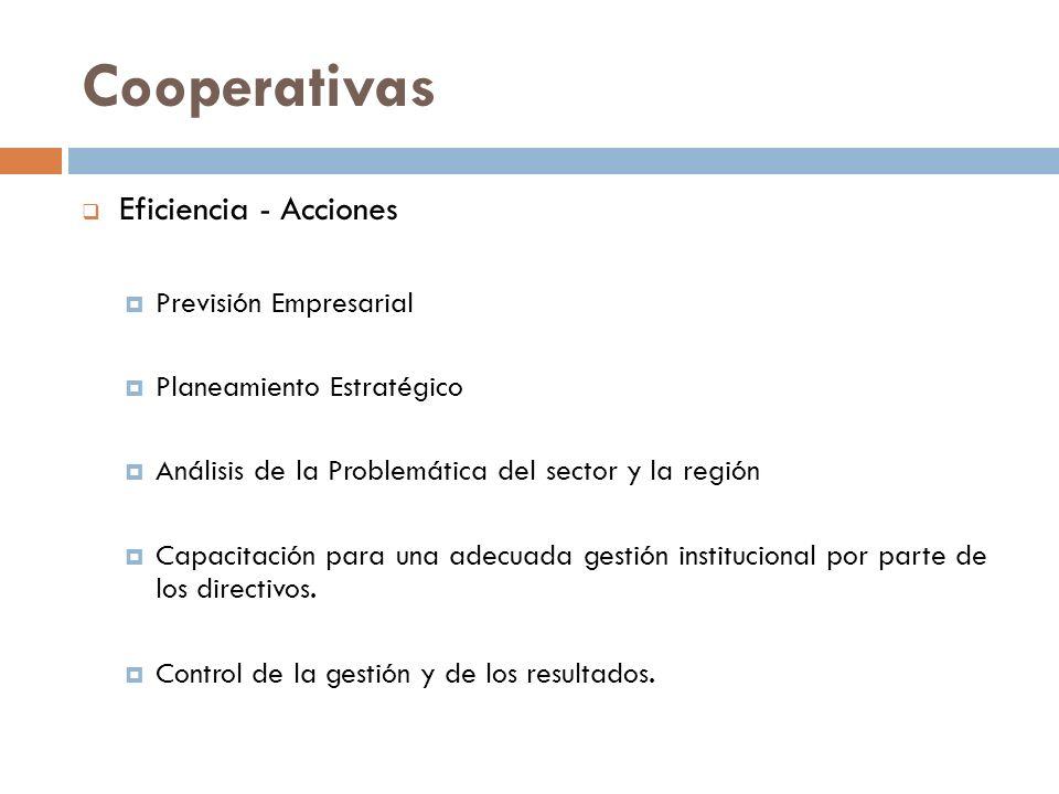 Cooperativas Eficiencia - Acciones Previsión Empresarial