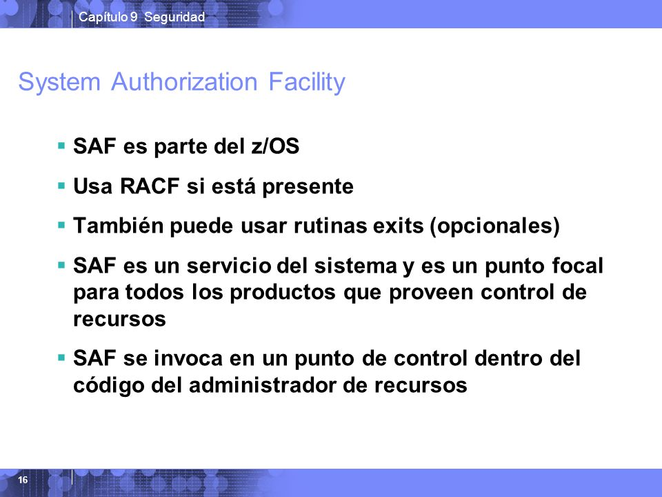 System Authorization Facility