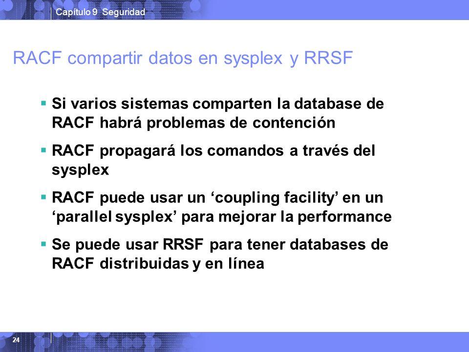 RACF compartir datos en sysplex y RRSF