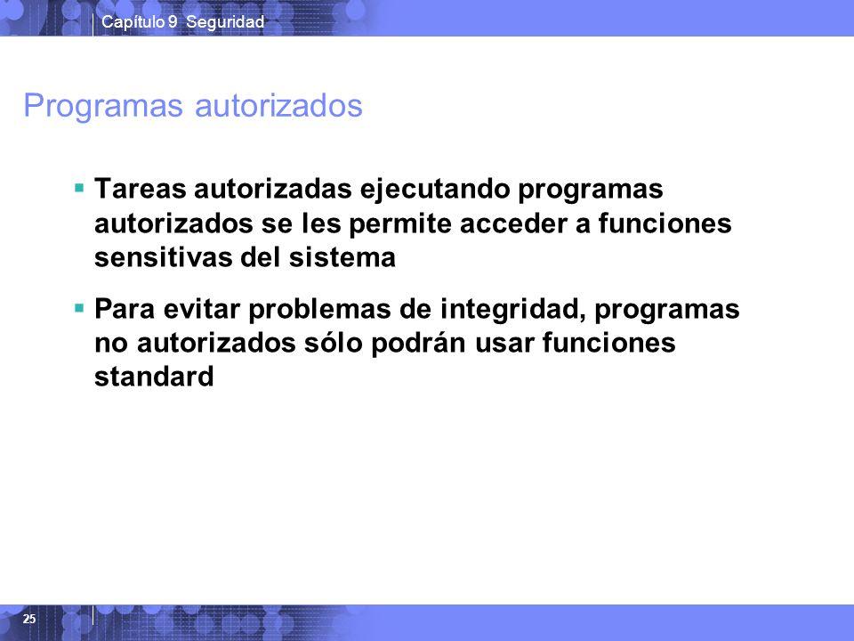 Programas autorizados