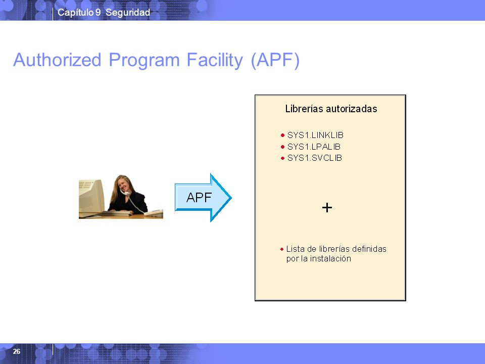 Authorized Program Facility (APF)