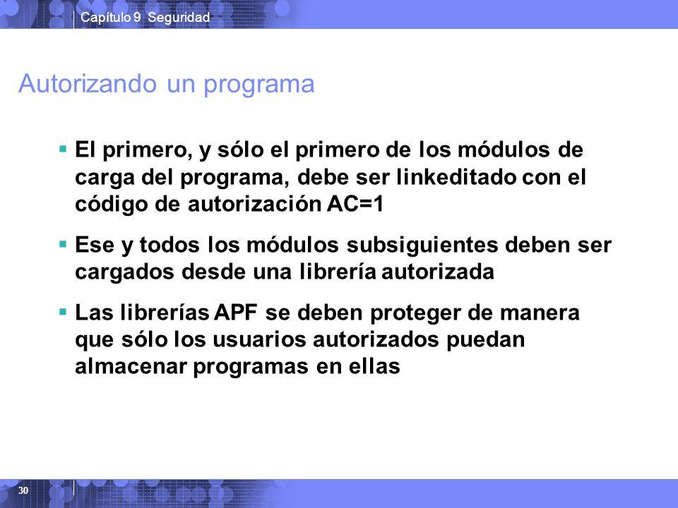 Autorizando un programa