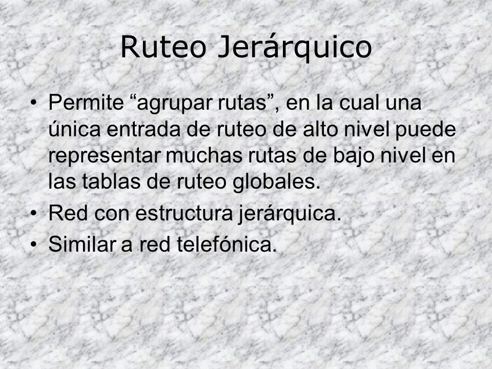 Ruteo Jerárquico
