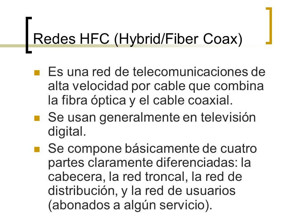 Redes HFC (Hybrid/Fiber Coax)