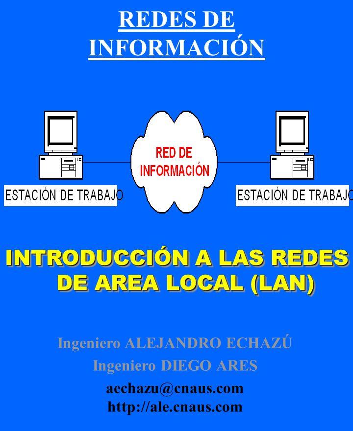 REDES DE INFORMACIÓN INTRODUCCIÓN A LAS REDES DE AREA LOCAL (LAN)