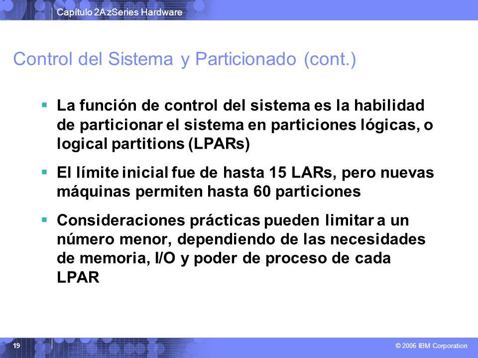 Control del Sistema y Particionado (cont.)