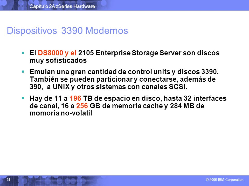 Dispositivos 3390 Modernos