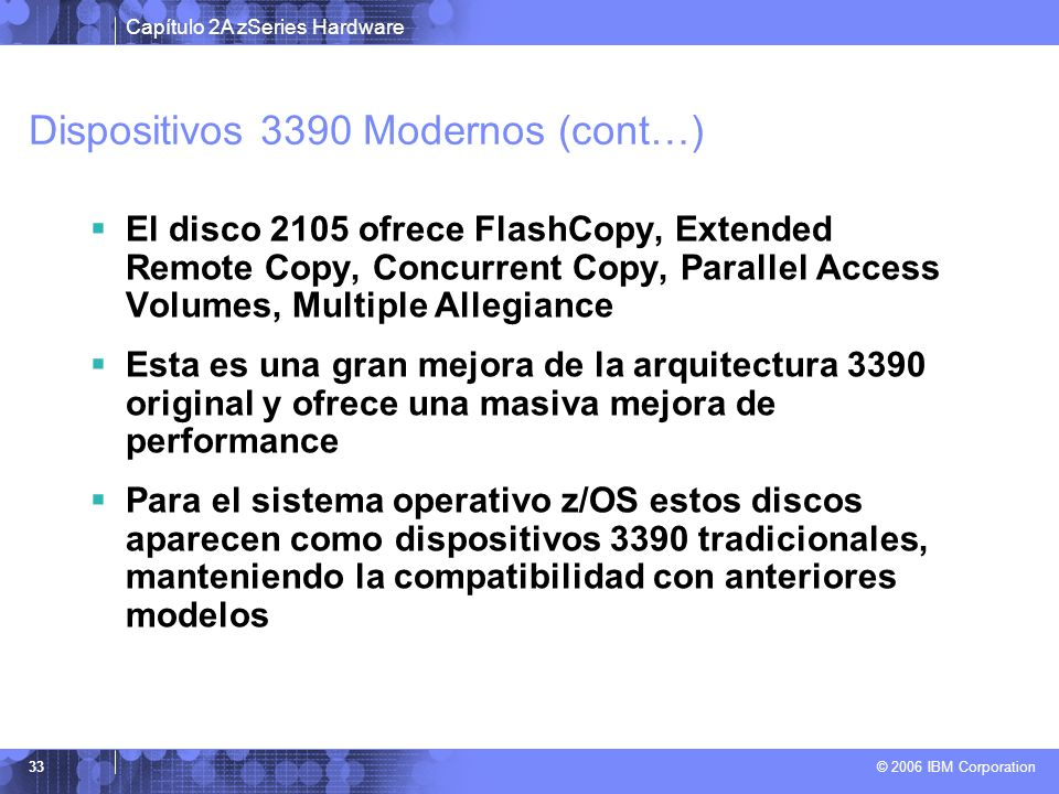Dispositivos 3390 Modernos (cont…)