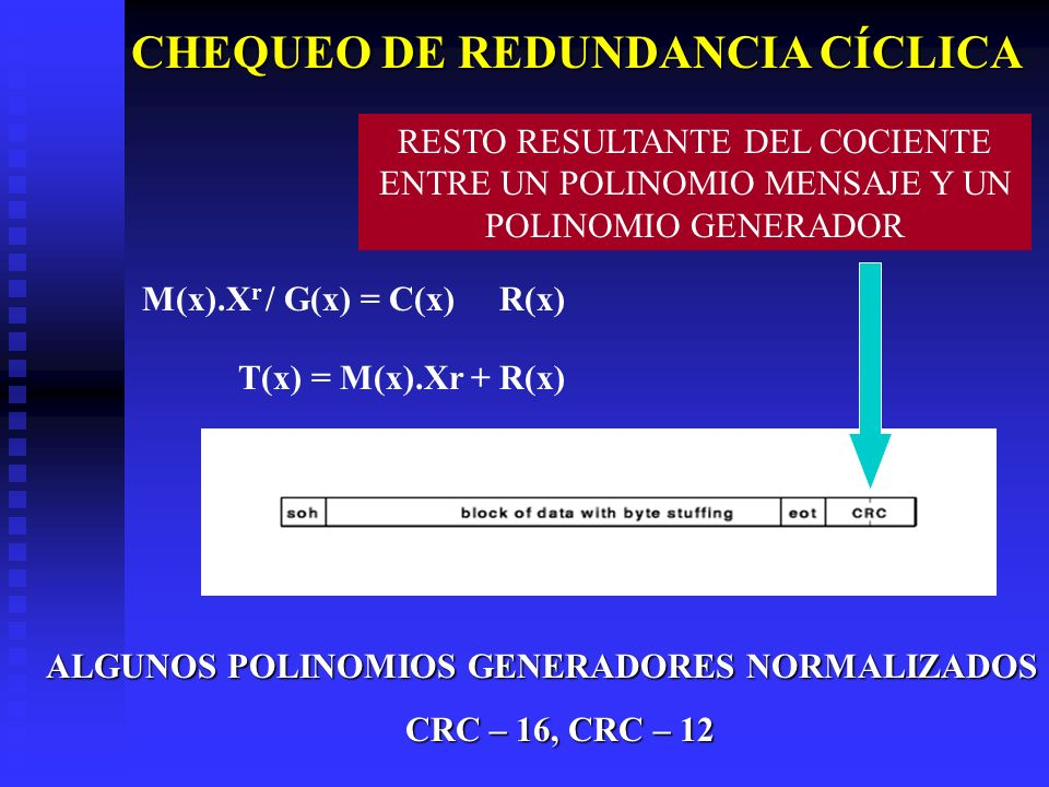 CHEQUEO DE REDUNDANCIA CÍCLICA