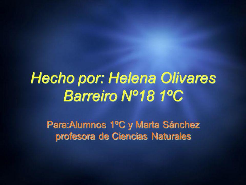 Hecho por: Helena Olivares Barreiro Nº18 1ºC